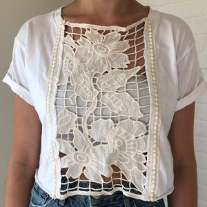 LF White Flower Cage Top